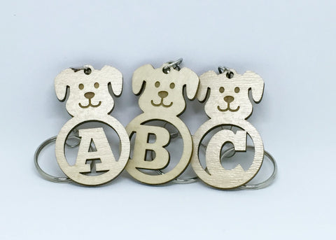 Dog Alphabet Keychains
