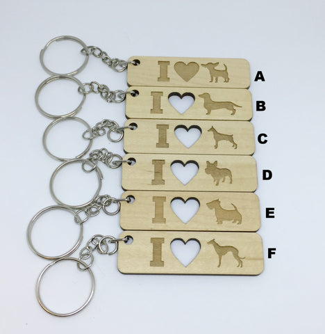 Dog Breed Keychains