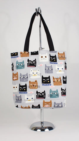 Cat Head Tote Bag - Cartoon