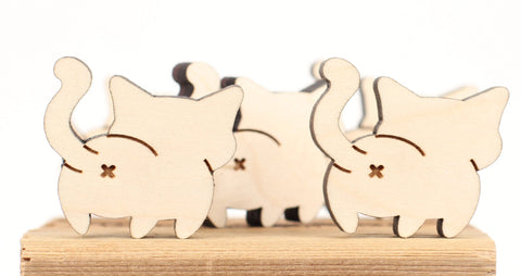 Cat - Magnets - Cartoon Cat Butts