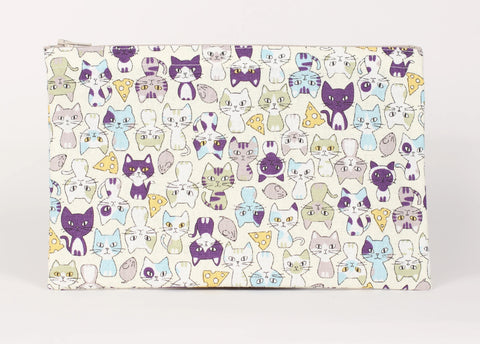 Cat - Pencil Cases - Beige Cats Sitting Pretty