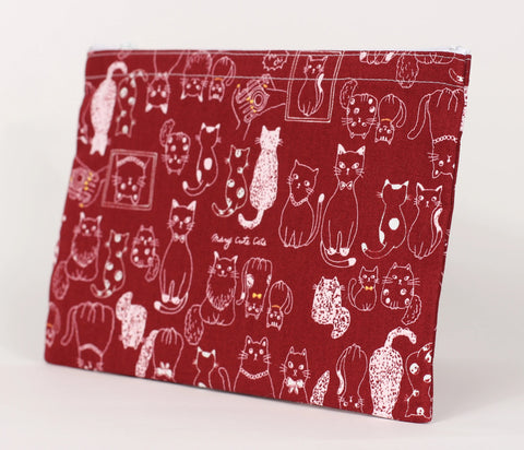 Cat - Pencil Cases - Red Cats with Bow Ties