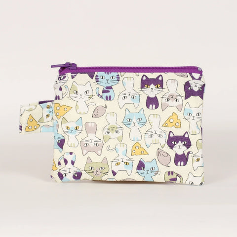 Cat - Coin Purses - Purple