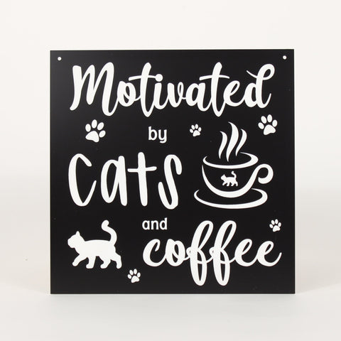 Cat - Signs - Motivated by Coffee