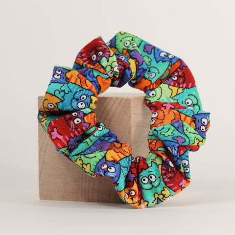 Cat - Scrunchies - Rainbow
