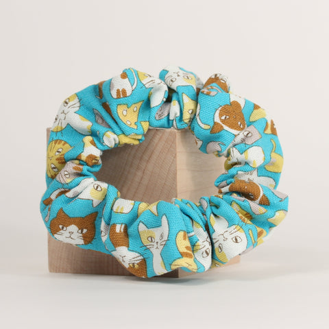 Cat - Scrunchies - Turquoise