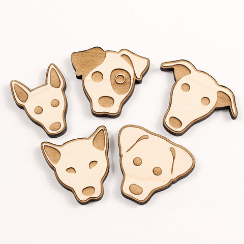 Dog - Magnets - Dog Heads