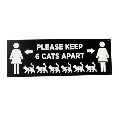 Cat - Signs - 6 Cats Apart