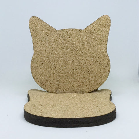 Cat - Cork Coasters - Cat Head