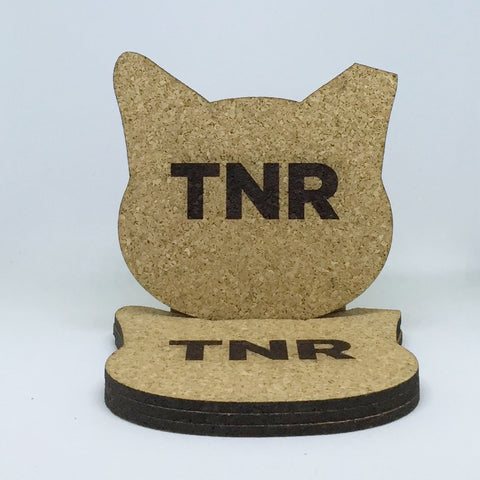 Cat - Cork Coasters - TNR