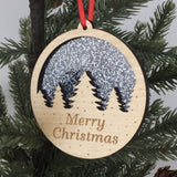 Christmas Ornaments - Glitter Merry Christmas