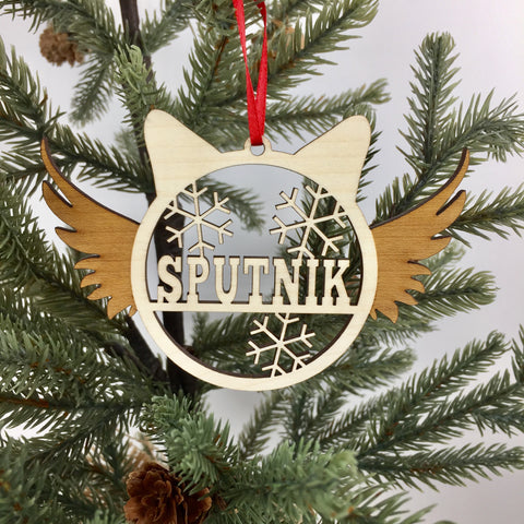 Cat - Ornaments - Angel Custom Name