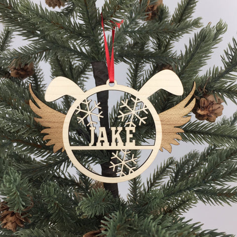 Dog - Ornaments - Angel Custom Name