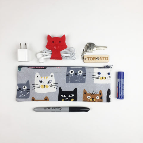 Cat - Pencil Cases - Square Heads (Small)