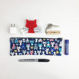 Cat - Pencil Cases - Navy (Small)