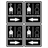 Cat - Signs - Washroom/Restroom Arrows