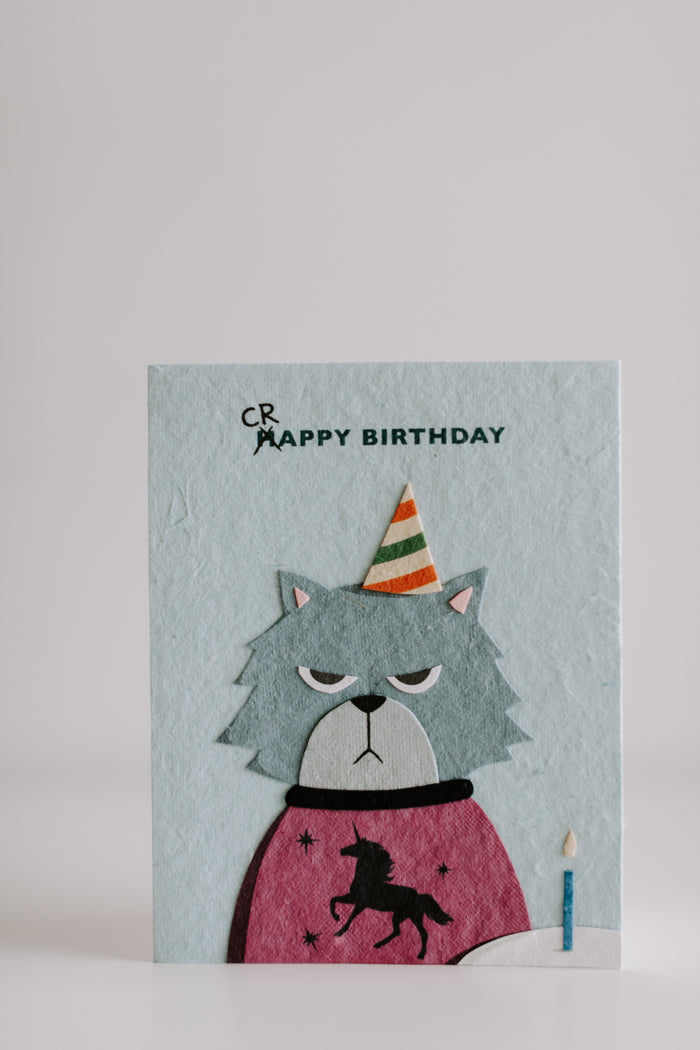 Grumpy Cat Birthday Card