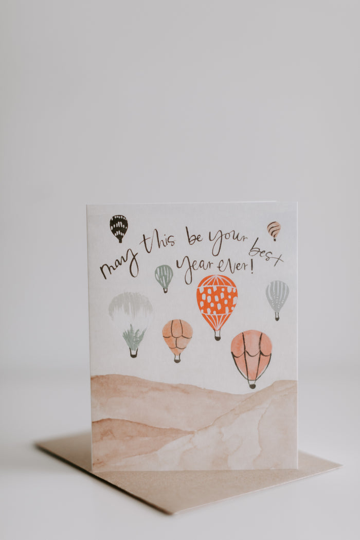 Hot Air Balloon Birthday Card