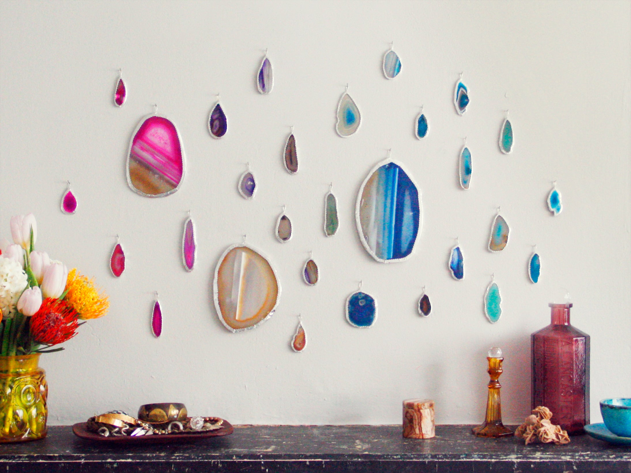 Create an Agate Slice Art Wall