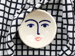 Ceramic Face Dish nº9 / Incense Holder / Ring Dish
