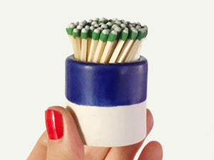 Ceramic Match Striker - Satin Cobalt on Porcelain