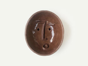 Ceramic Face Dish / Soap Holder / Ring Dish