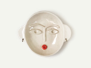 Frida Kahlo Ceramic Face Dish / Incense Holder / Ring Dish