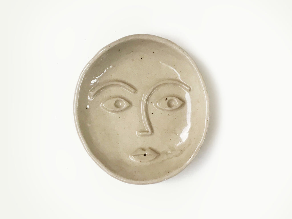 Ceramic Face Dish / Incense Holder / Ring Dish