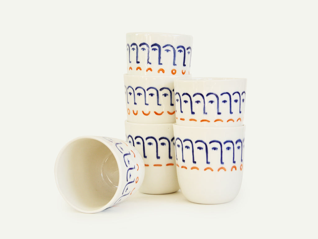 Porcelain Mood Swings Face Cup (Made to Order)