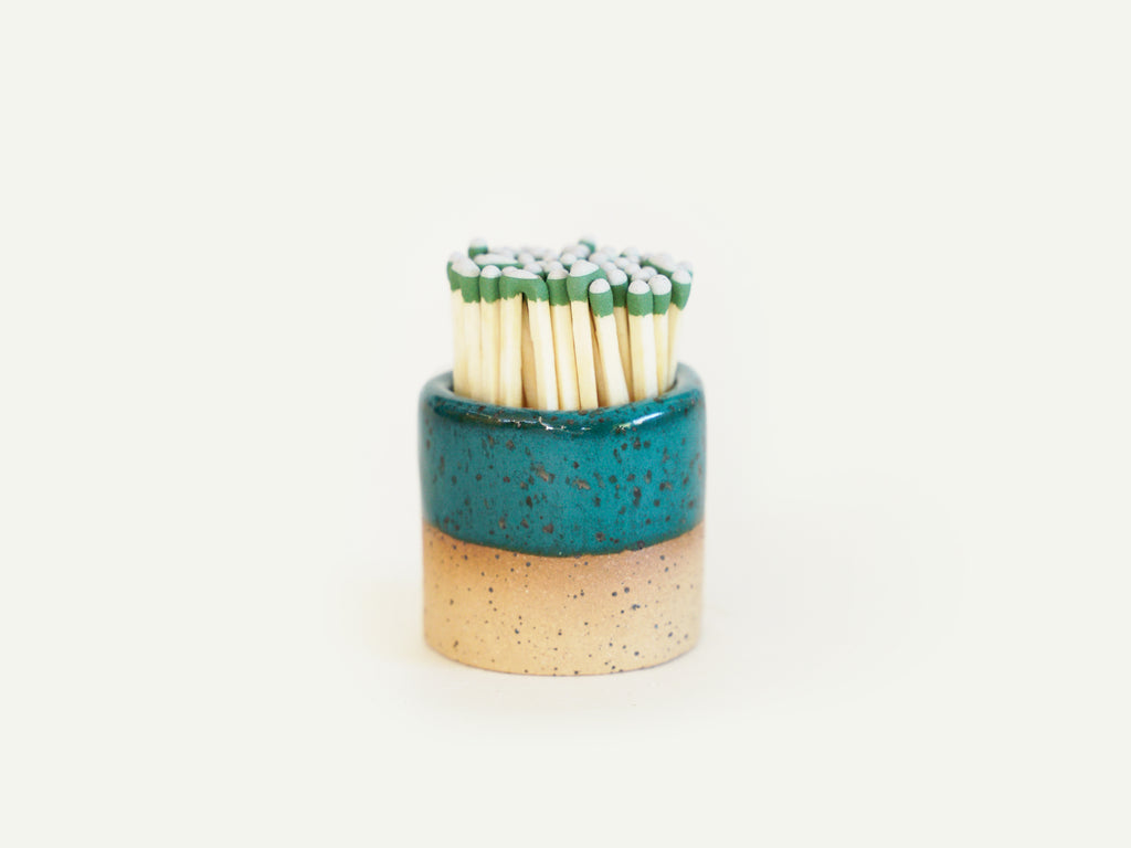 Ceramic Match Striker - Turquoise