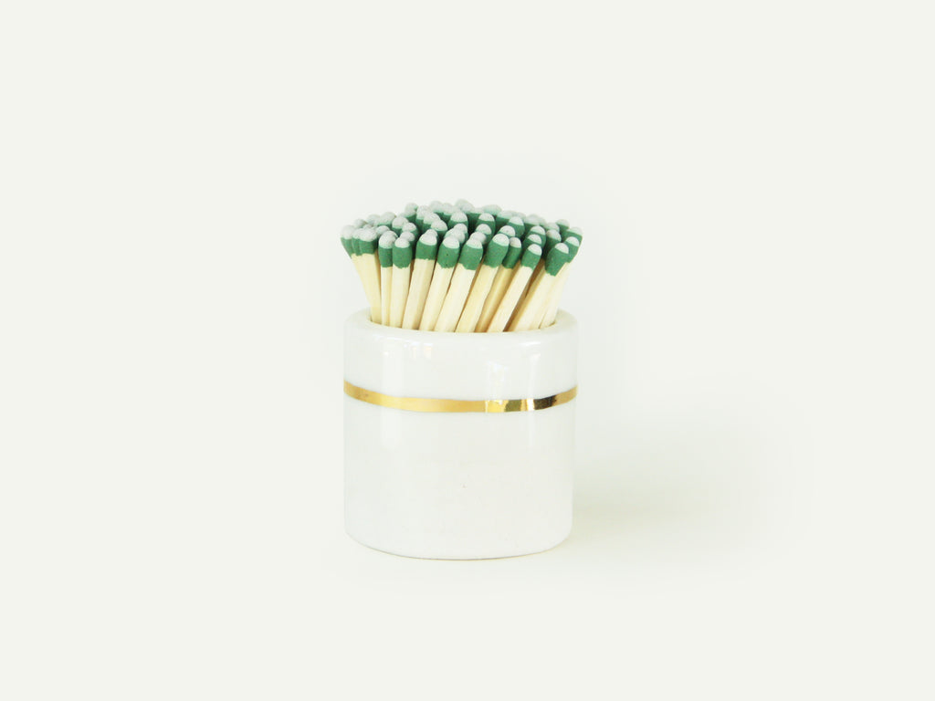 Ceramic Match Striker - Gold on Porcelain