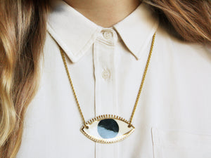 Ceramic Evil Eye Protection Necklace