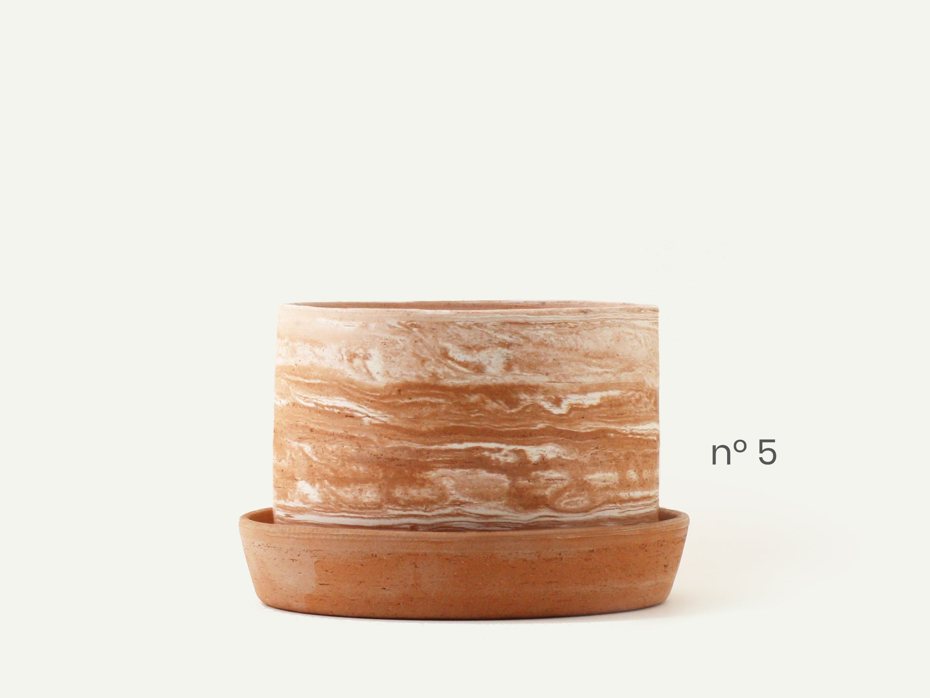 Marbled Terracotta Jupiter Planter