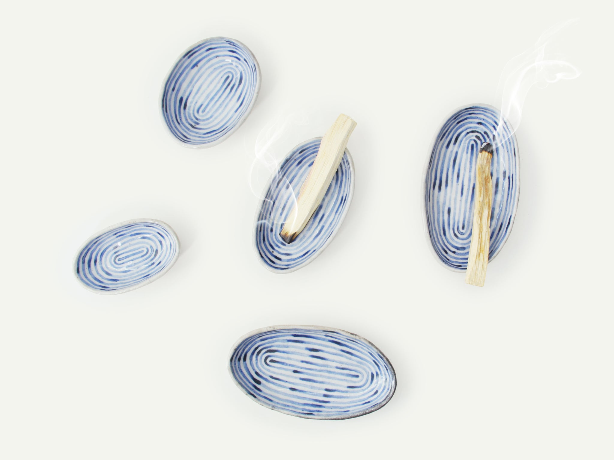 Indigo Blue Ceramic Oval Dish