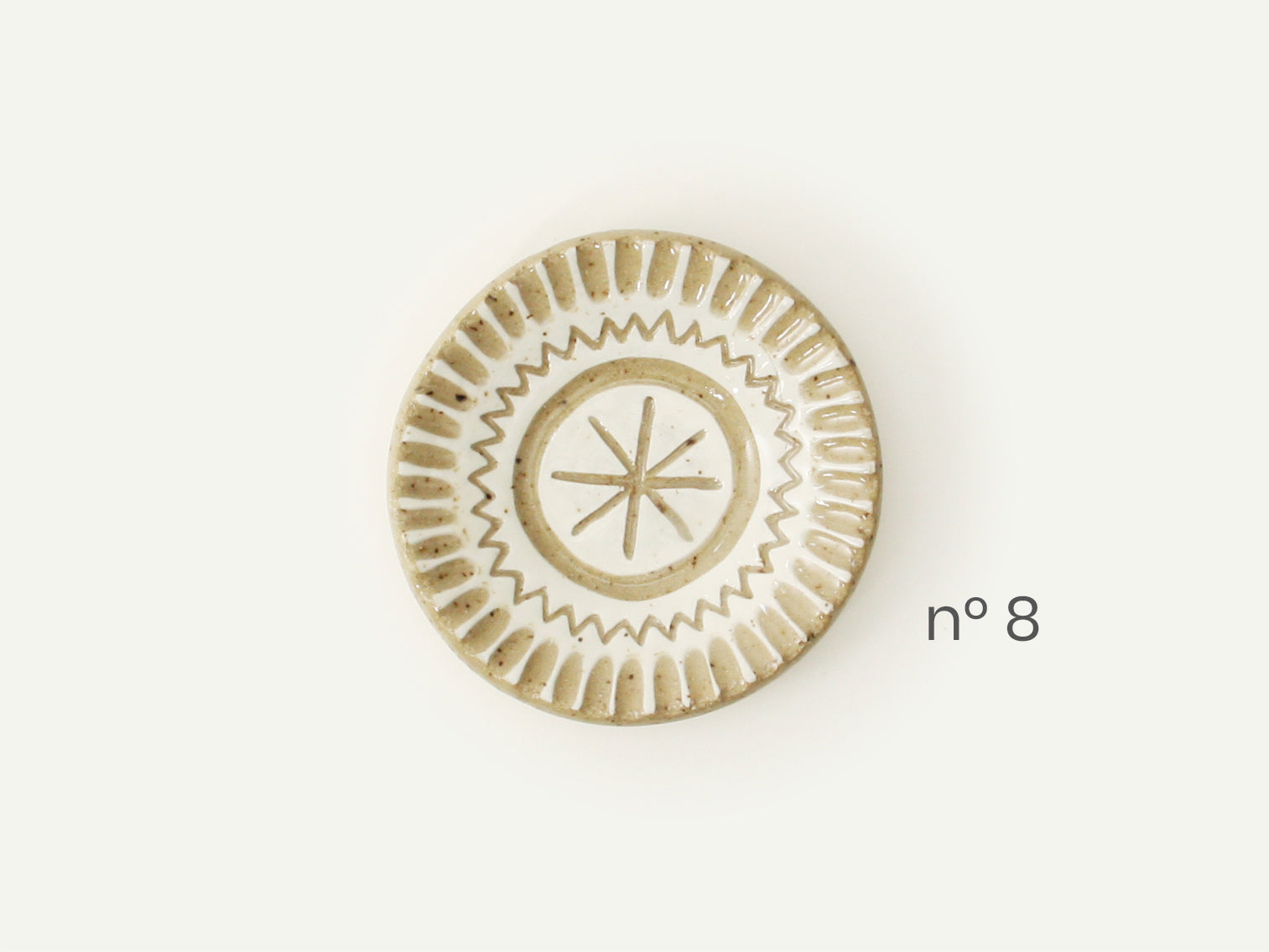 White Carved Ring Dish / Incense Holder