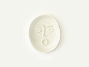 Ceramic Face Dish nº1 / Incense Holder / Soap or Ring Dish
