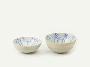 Indigo Blue Ceramic Ice Cream Bowl