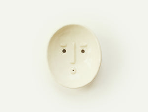 Ceramic Face Dish nº5 / Incense Holder / Soap or Ring Dish