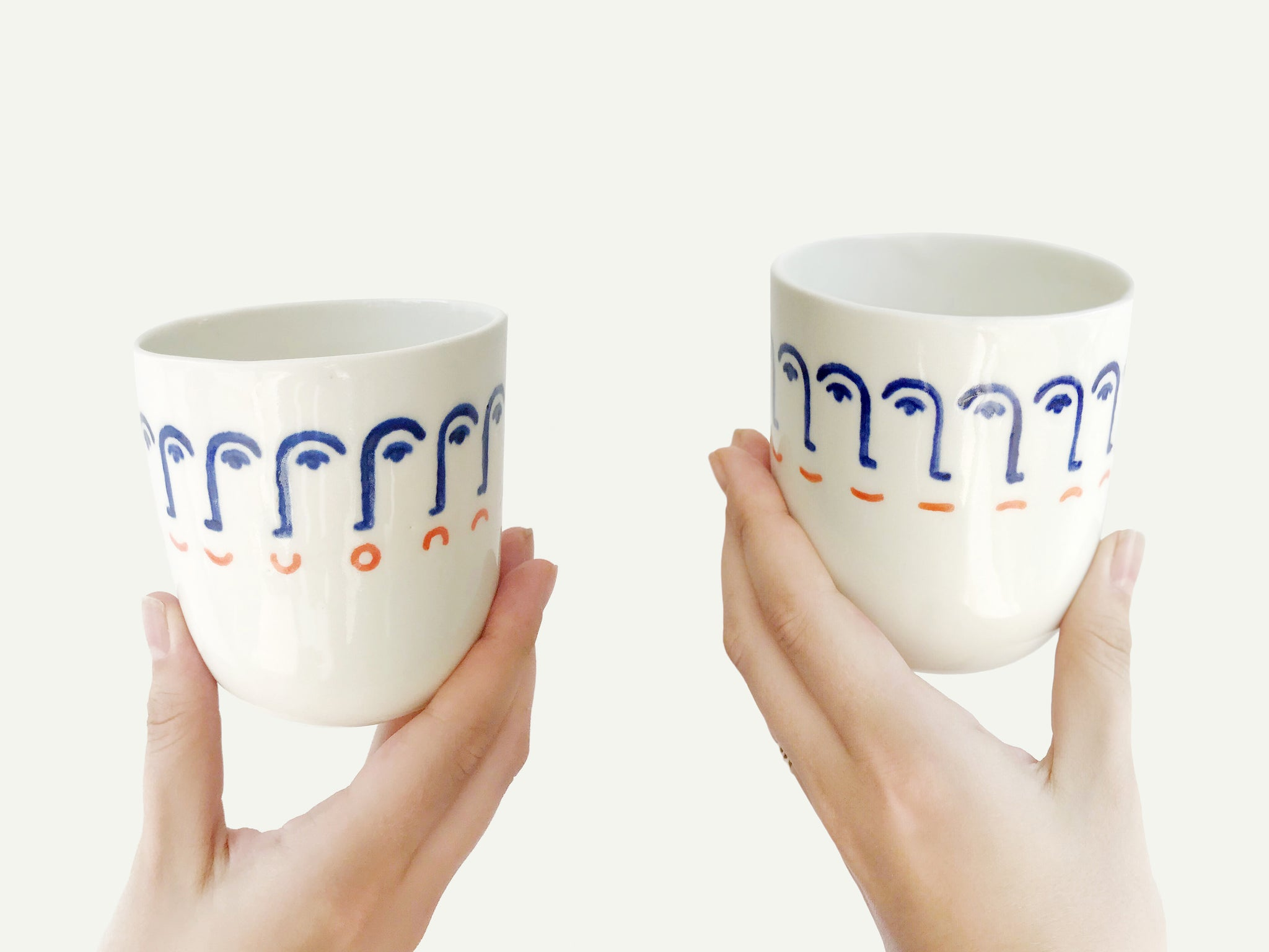 Porcelain Mood Swings Face Cup