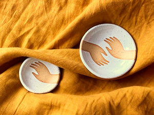 Pre-Order: Trinket Ring Dish - Hand - White
