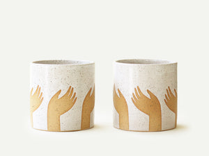 Pre-Order: Left Hand Pattern Planter / Pot
