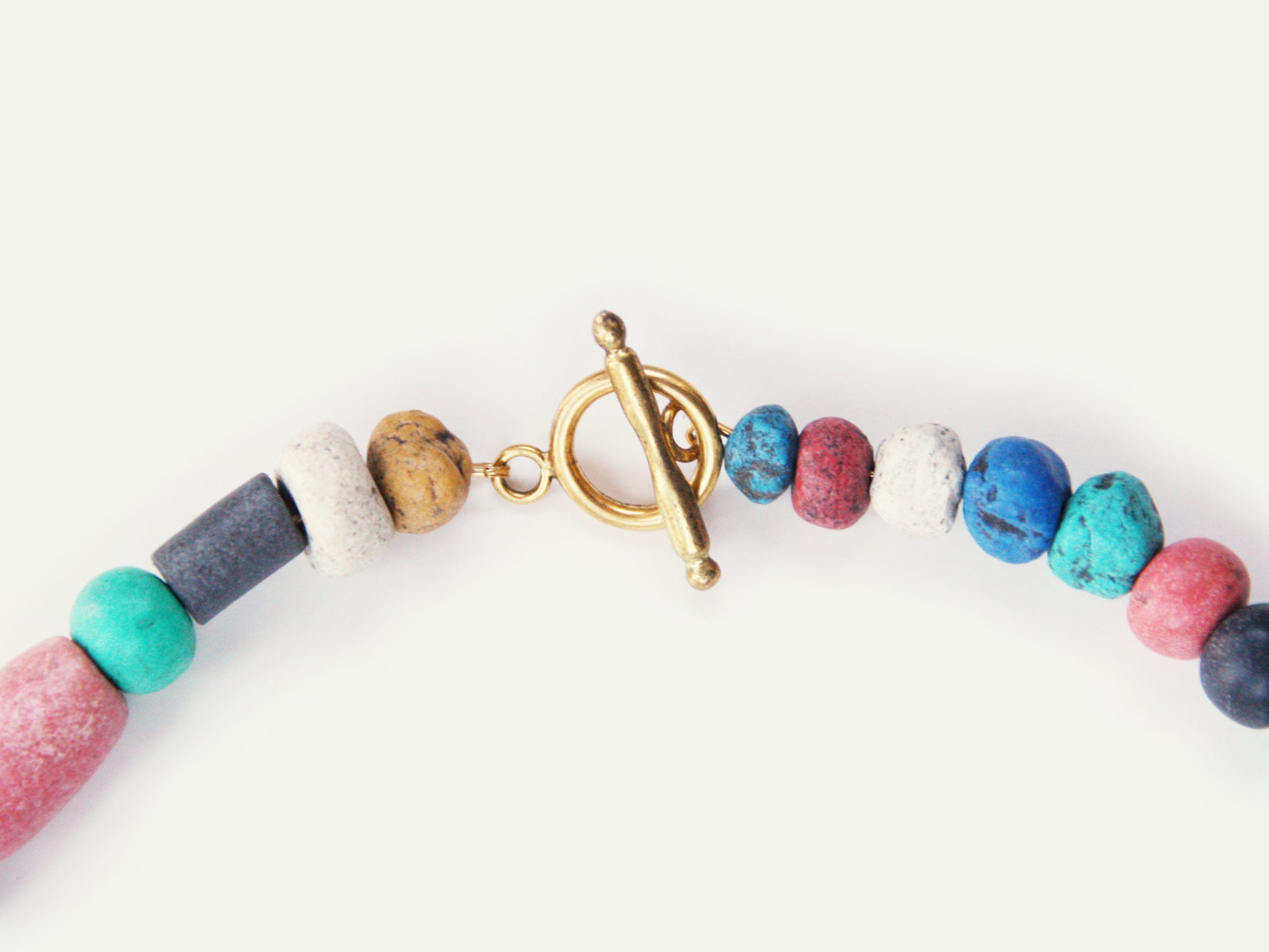 Colorful Moroccan Clay Bead Necklace