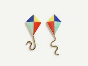 Pre-Order: Porcelain Kite Earrings