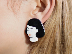Porcelain Lady Earrings