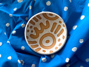 "Pre-Order: Large ""Doodle"" Trinket Ring Dish - Large Pattern - White"