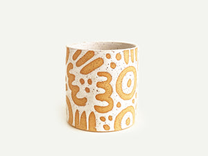"Pre-Order: ""Doodle"" Cup / Tumbler - Large Pattern - White"