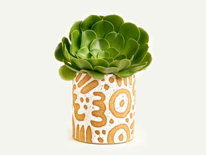 "Pre-Order: ""Doodle"" Planter / Pot - Large Pattern"