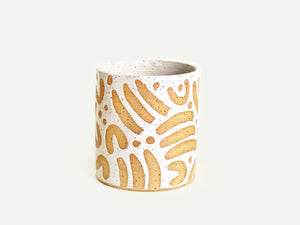 "Pre-Order: ""Jot"" Cup / Tumbler - Large Pattern - White"