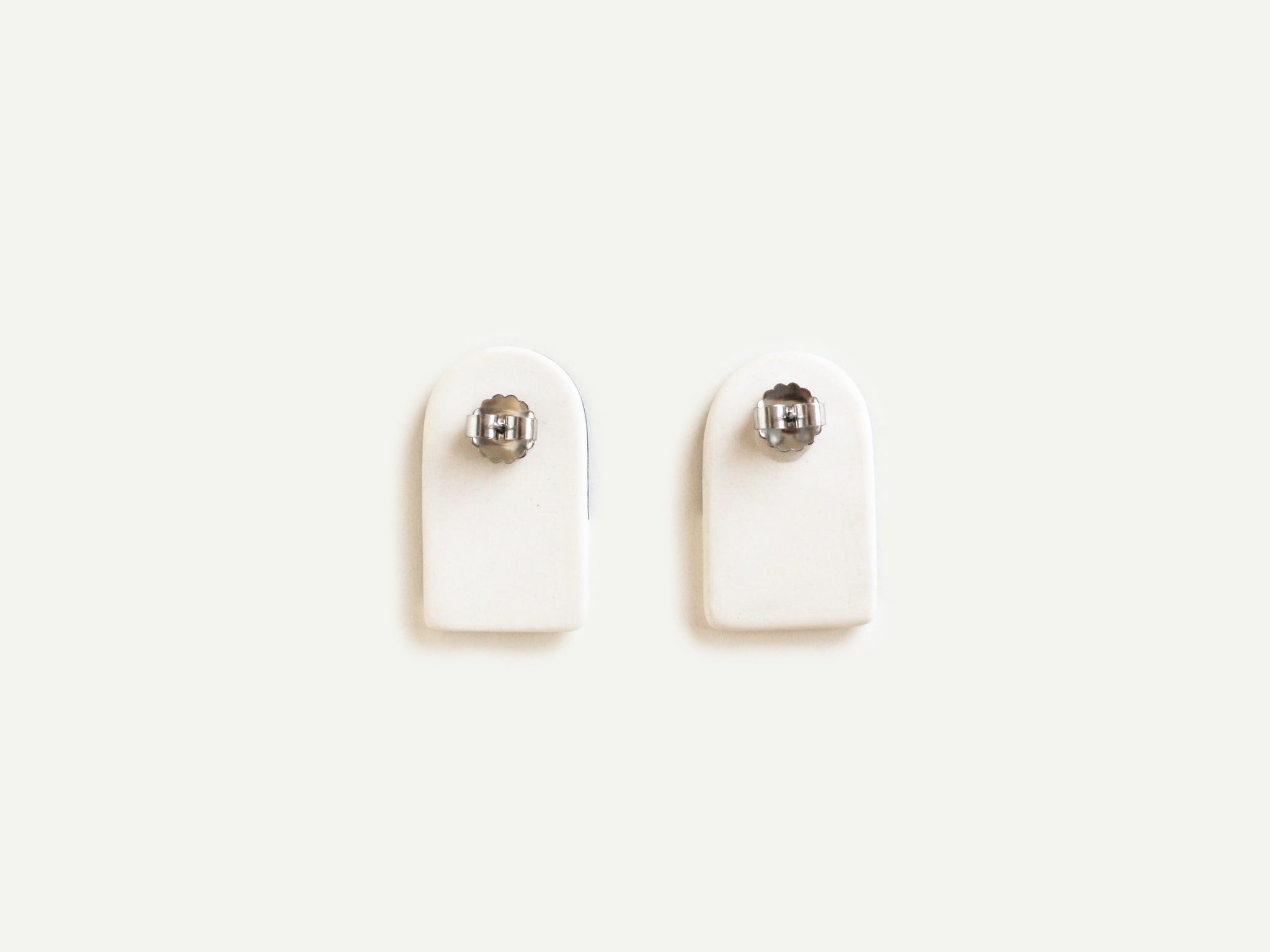 Pre-Order: Porcelain Arch Earrings