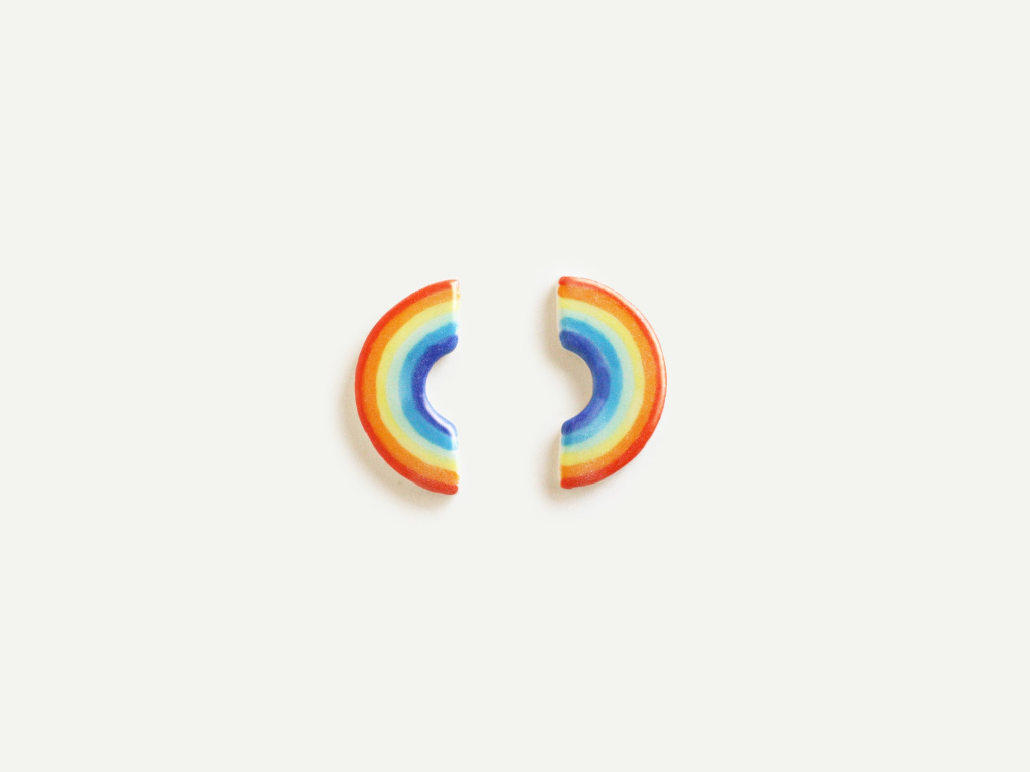 Pre-Order: Porcelain Rainbow Earrings